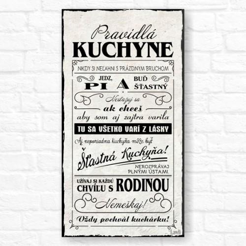 Dekoračený obrázok - Pravidlá Kuchyne