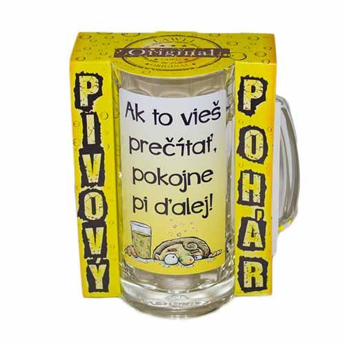 Vtipné krígle - Ak to vieš prečítať, pokojne pi ďalej! | Vtipné poháre na pivo