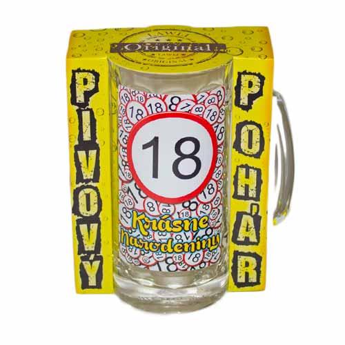 Vtipné krígle -  Krásne narodeniny 18 | Vtipné poháre na pivo
