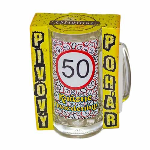 Vtipné krígle - Krásne narodeniny 50 | Vtipné poháre na pivo