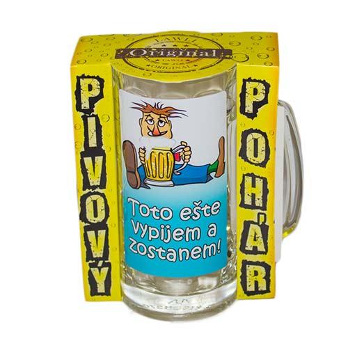 Vtipné krígle - Toto ešte vypijem a zostanem | Vtipné poháre na pivo