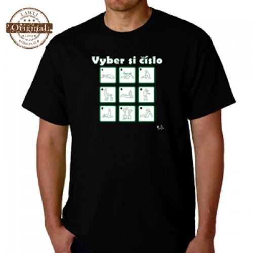Vtipné tričko - Vyber si číslo