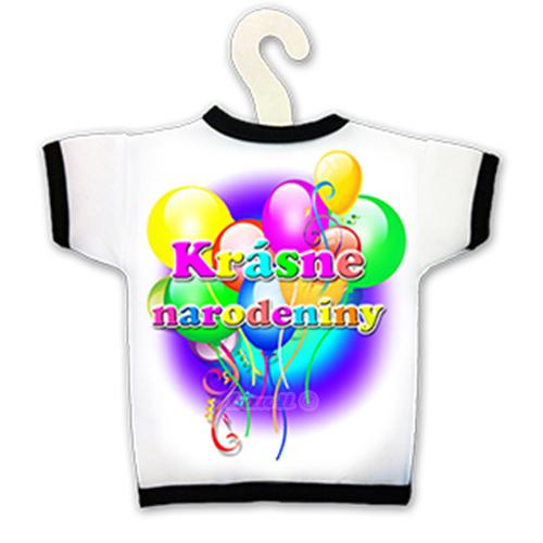 Tričko na fľašu - Krásne narodeniny