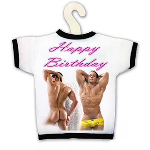Tričko na fľašu - Happy Birthday Man
