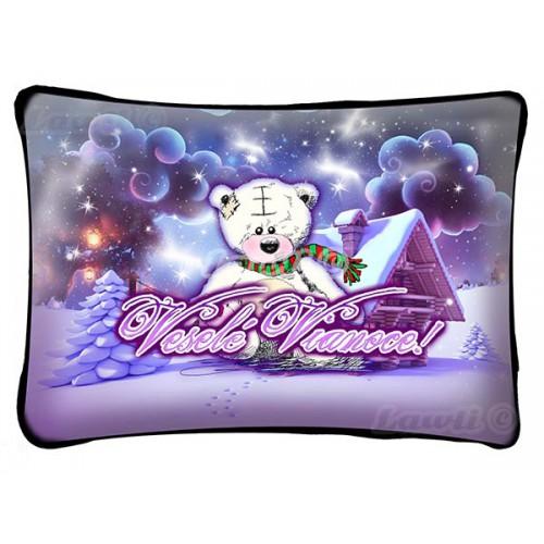 Vankúš - Veselé Vianoce - macko