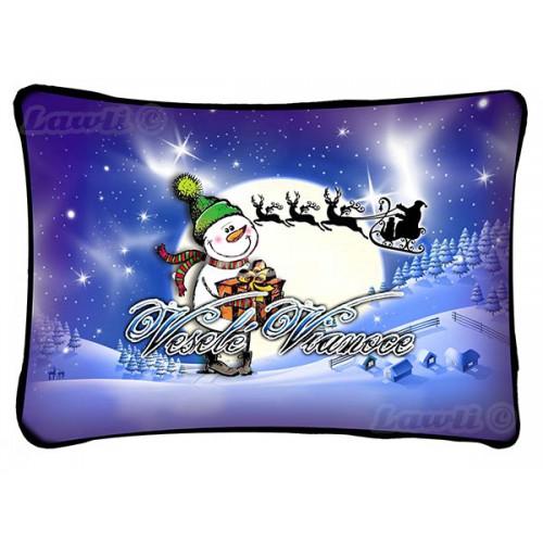 Vankúš - Veselé Vianoce -  snehuliak