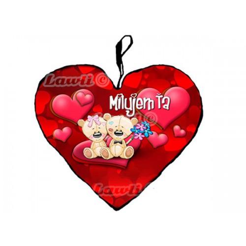 Vankúš - Milujem Ťa - Mackovia 23cm