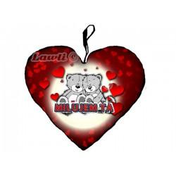 Vankúše - srdce 23cm